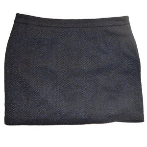 Gap Tapestry Textured Wool Blend Lined Skirt